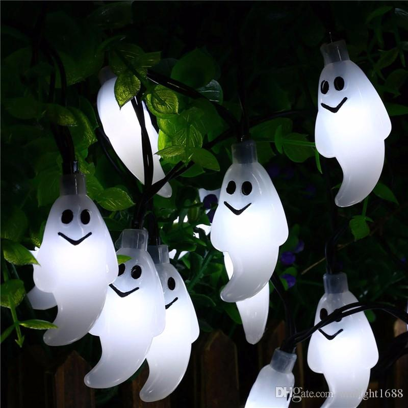 Umlight1688 30 Led Ghost Solar String Lights Outdoor Solar String Waterproof Solar Power For Garden Patio Yard Christmas Parties