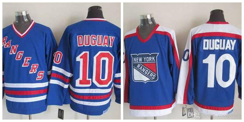 premium selection e101d 51dcf Men's New York Rangers #10 Ron Duguay Light Blue With White CCM Vintage  Jersey Liberty Winter Classic Stadium Stitched Logos
