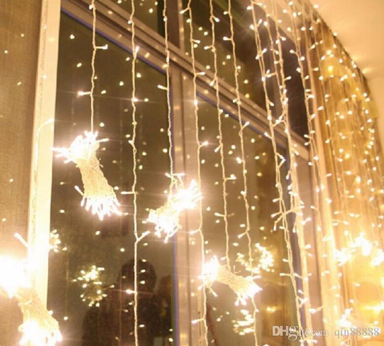 Decoración de Navidad llevó luces de la secuencia 3 * 3 m para cada conjunto fiesta de bodas de iluminación Lightings rgb Promoción LED lámpara de cadena