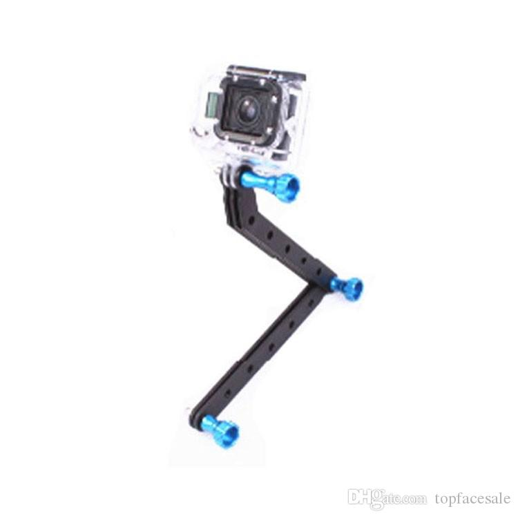 CNC Aluminum Alloy Extension Arms Gopro Mount Screw Set For Gopro Hero6 black Hero 5 4/3+/3/2/1 Camera Multi-color