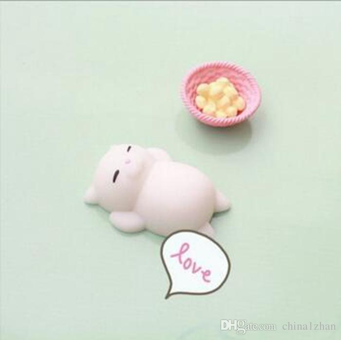 Mini Squeeze Toy Squishy Cat Panda Pinch Doll Carino Kawaii Squeeze Elastico Animale Guarigione Antistress Giocattoli le dita DHT169
