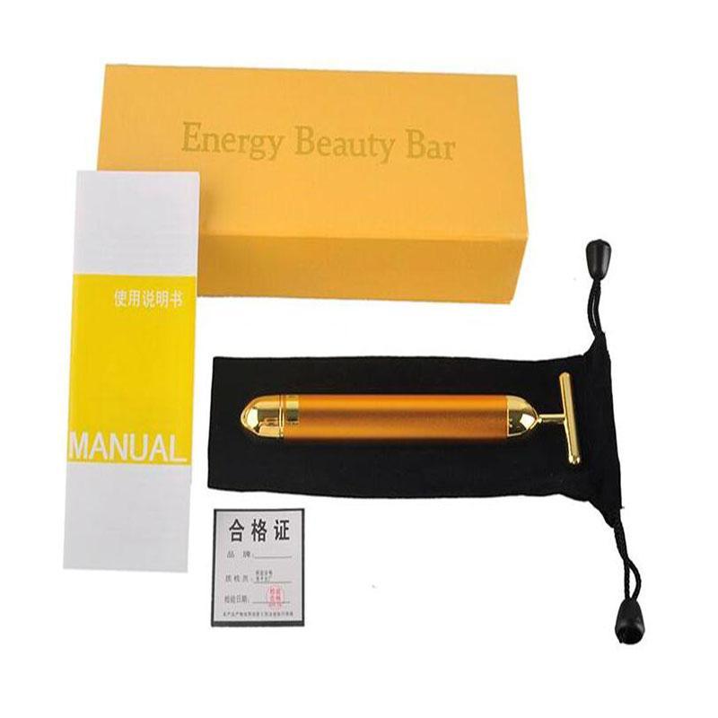 Enerji Güzellik Bar 24 K Altın Darbe Sıkılaştırıcı Masaj Yüz Rulo Masajı Derma Cilt Bakımı Kırışıklık Tedavisi Yüz Masajı