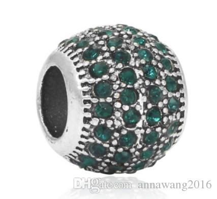 Подходит стерлингового серебра Pandora браслет многослойные хрустальные бусины подвески для Diy европейский стиль змея Шарм цепи мода DIY ювелирных изделий оптом