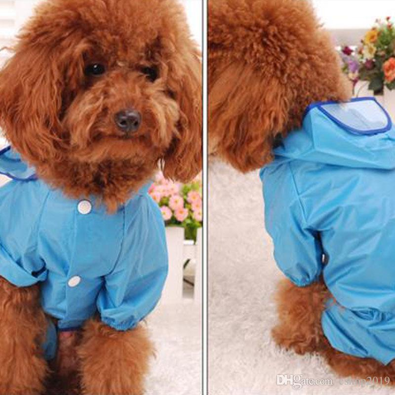 Nylon pet raincoat clothes rain coat for small dogs dog clothes yorkie clothes for puppies products for animals