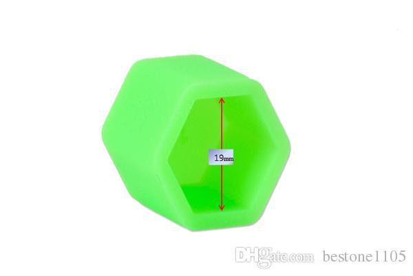 10 Ensembles 19mm Hex Roue Écrou De Protection Écrou Capuchons Noctilucent Silicone Couvercle De Vis De Roue Fluorescent Jante Boulon Cap Car Styling Pièces
