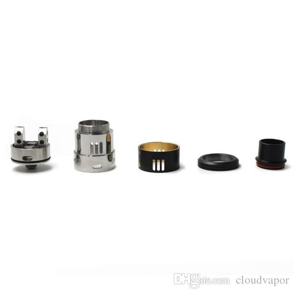 Newest Samurai V3 RDA Atomizers clone AFC 24mm Wide Bore Drip Tip for 510 Thread Vape Mods Vaporizer DHL free