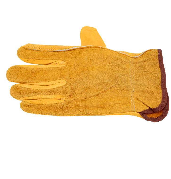 Protección de trabajo Guantes Seguridad Soldadura Cuero Glovess Color amarillo Tamaño L Proteger las manos del trabajador Sitio de construcción fuera52