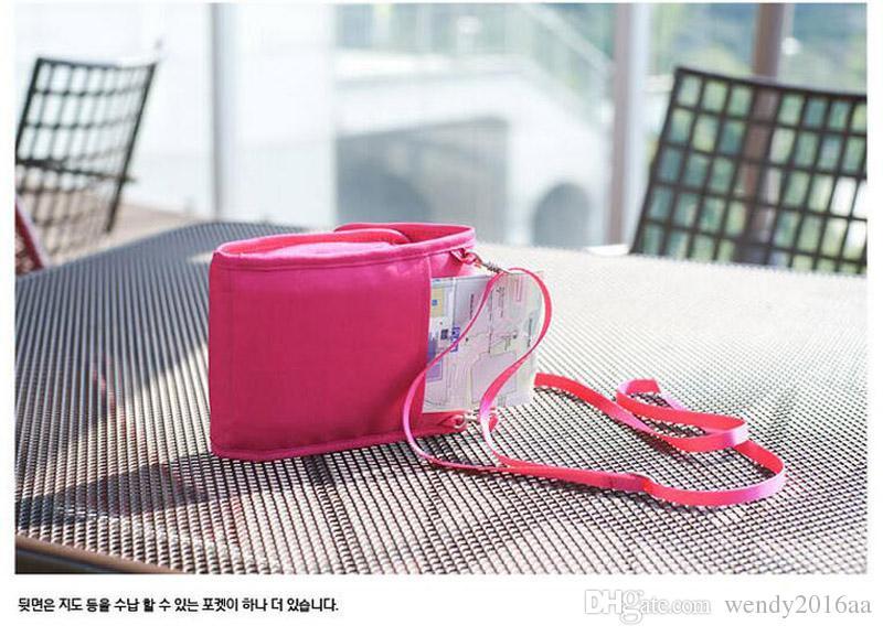 2 adet Yeni çok fonksiyonlu Suff Çuval Spor Açık 4 Renkler Demin Omuz Crossbody Çanta Creddit Kart Sikke çanta