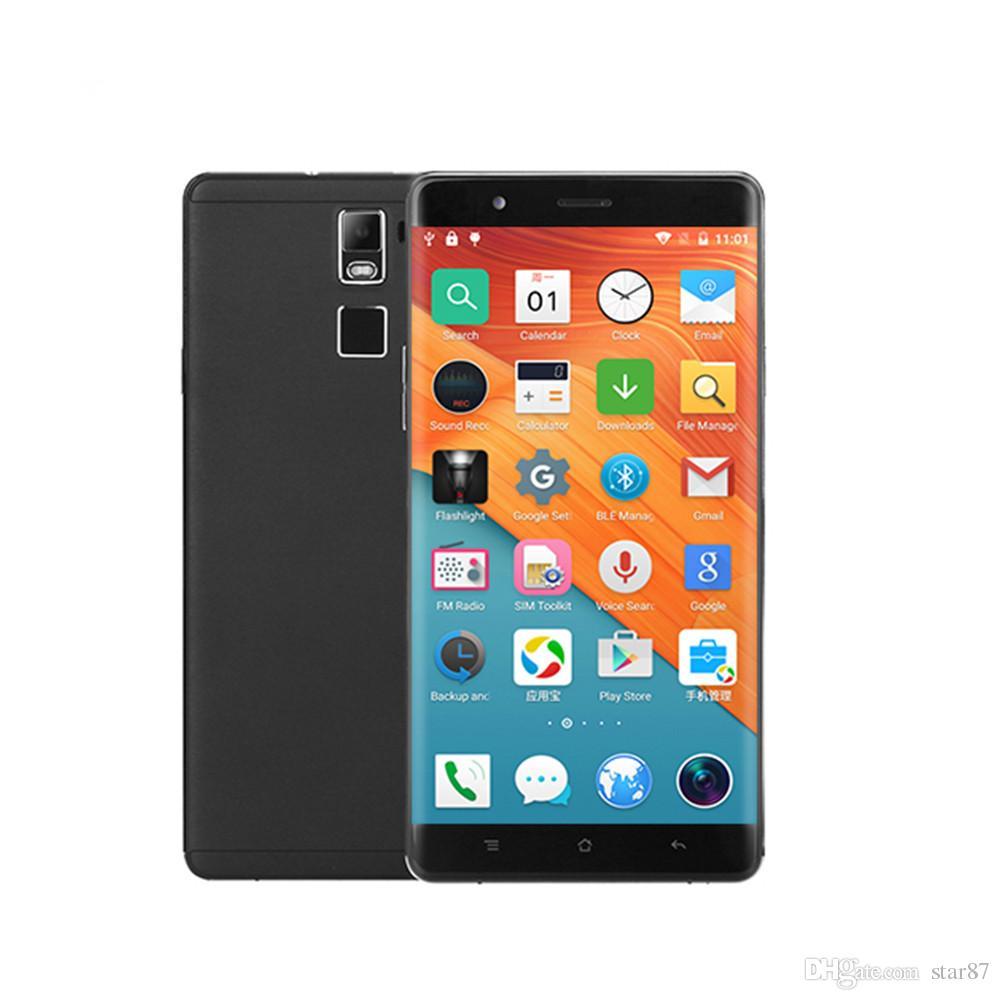 67652a943ae 6 дюймов большой сенсорный экран супер тонкий Android сотовый телефон Ulim  R8S с ЧПУ металлический каркас Quad Core Android 5.1 OS дешевый смартфон с  ...
