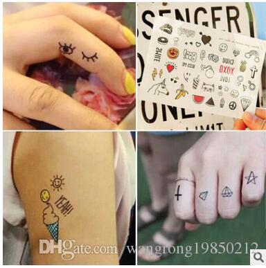 Waterproof temporary tattoo of Cute pictures unicorn banana fruit five styles can choose
