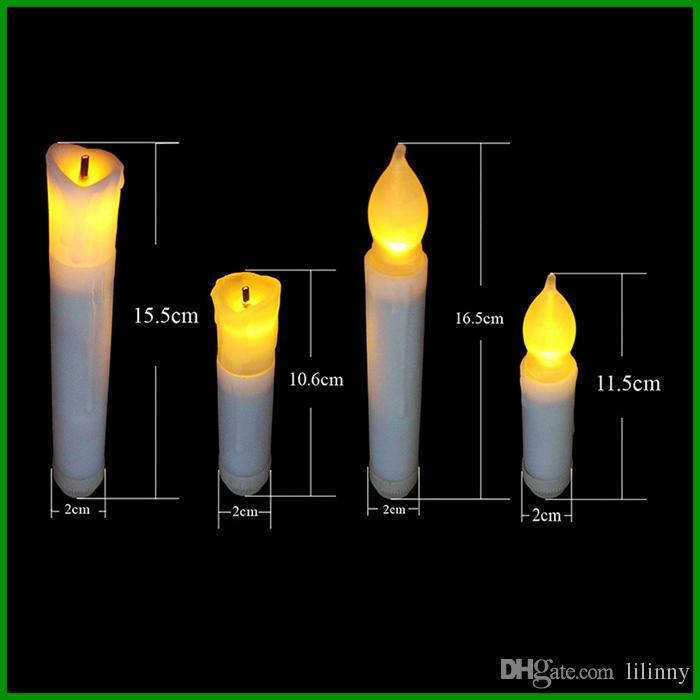 Velas altas da igreja da lâmpada 10.5cm da vela do diodo emissor de luz do plástico Eco-Amigável com emergência alta branca da vela da vara da bateria