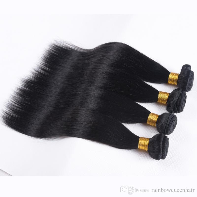 Бразильские Волосы Необработанные Человеческие Волосы Соткет Перуанский Малайзийский Индийский Камбоджийский Наращивание Волос Прямые Пучки Dyeable Лучшее Качество