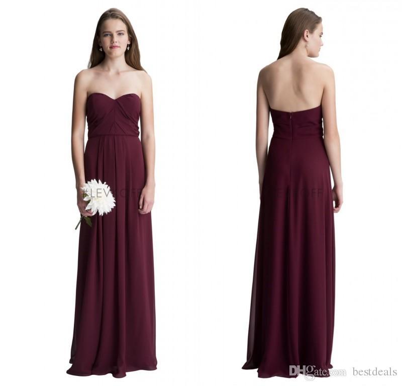 Bill Levkoff Beach 2017 Cheap Burgundy Long Bridesmaid Dresses ...
