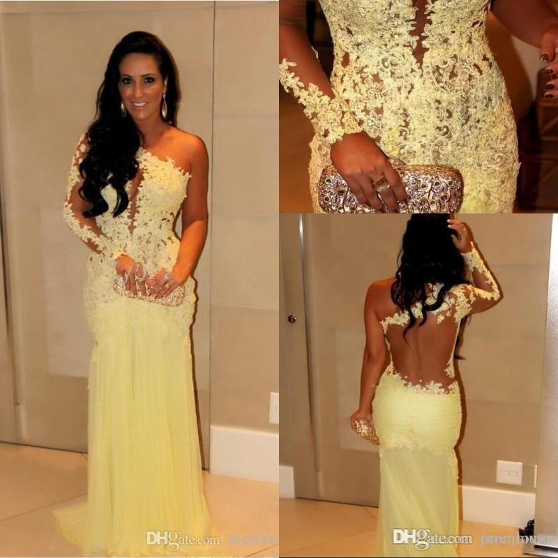 2019 Evening Gowns With Long Sleeves Formal Gowns Mermaid Dubai Lace Indian Celebrity Evening Dresses Long Women Arabic