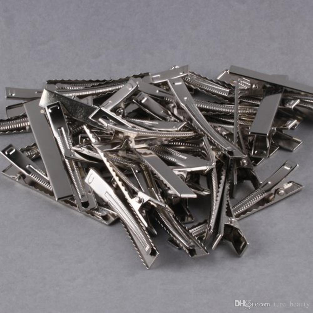 32mm / 35mm / 40mm / 45mm / 55mm / 65mm / Único PRONG METAL Jacaré de metal clipes de cabelo Korker Bow.\