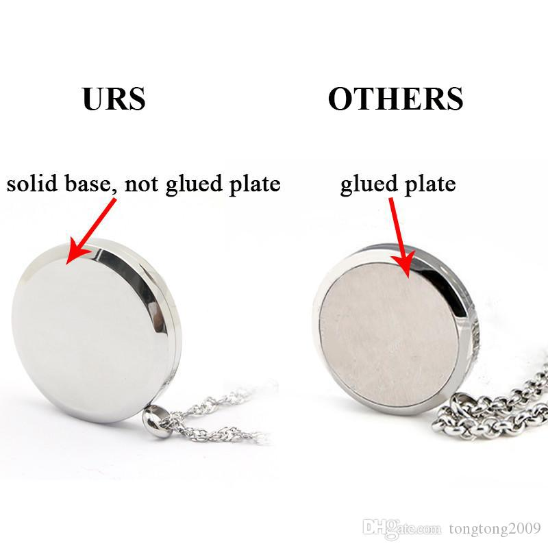 Free with Chain as Gift! Hot 30mm Magnetic 316L Stainless Steel Silver Aroma Perfume Locket Necklace
