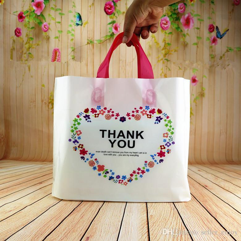 Plastic gift bags smile thank you color flower printed heart shape plastic gift bags smile thank you color flower printed heart shape transparent clear plastic pouches for jewelry clothes gift wine bags custom bags from negle Gallery