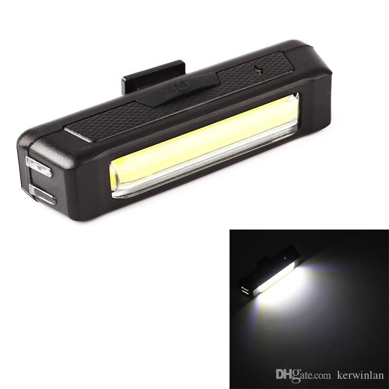 Wasserdichtes Comet USB aufladbare Fahrrad-Radfahren-Kopf-Licht-Kopf / Rücklicht COB Fahrrad-Sicherheits-Warnleuchten