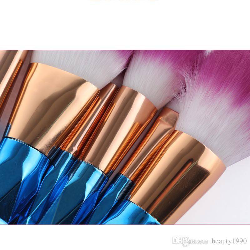 / set makeup cepillo conjunto profesional rubor polvo ceja sombra de ojos nariz labio nariz rosa oro mezcla maquillaje cepillo herramientas cosméticas