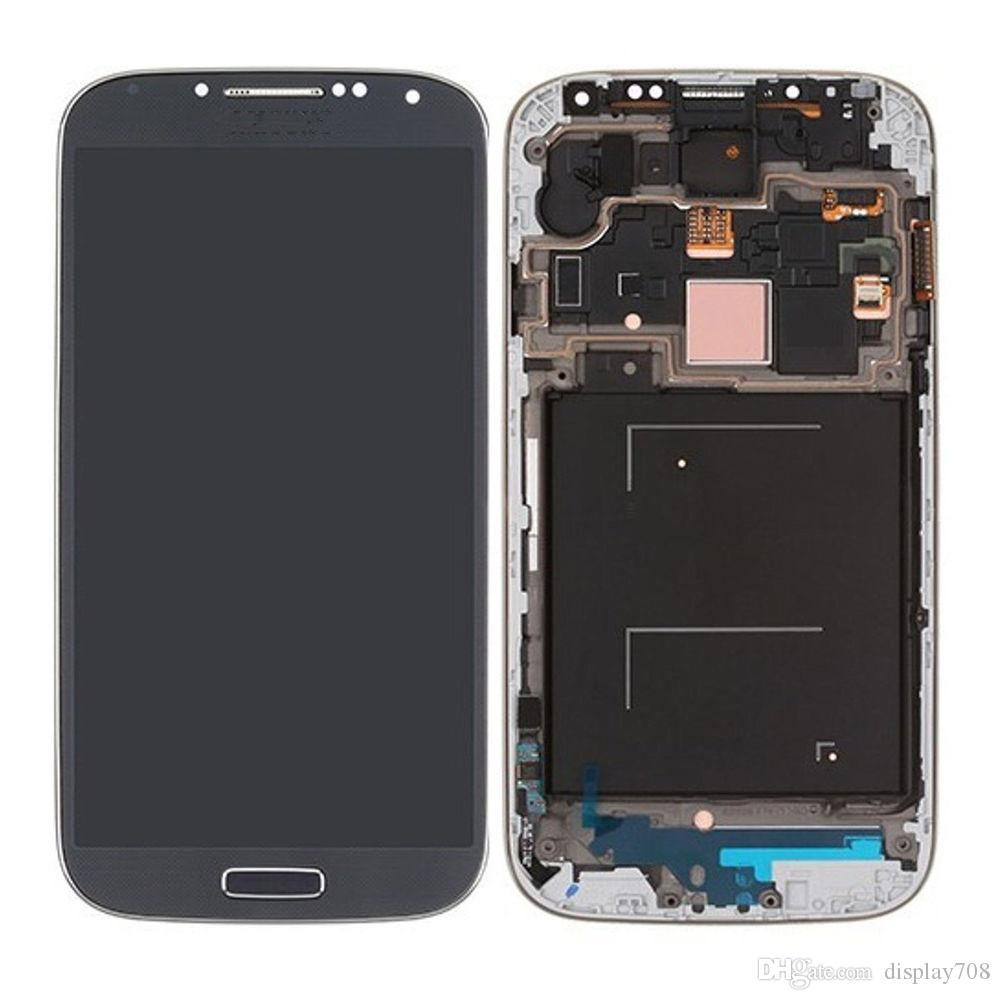 AAA Quality 2016 New LCD Lens Screen+Touch Digitizer Assembly For Samsung Galaxy S4 i337 i545 display Blue White