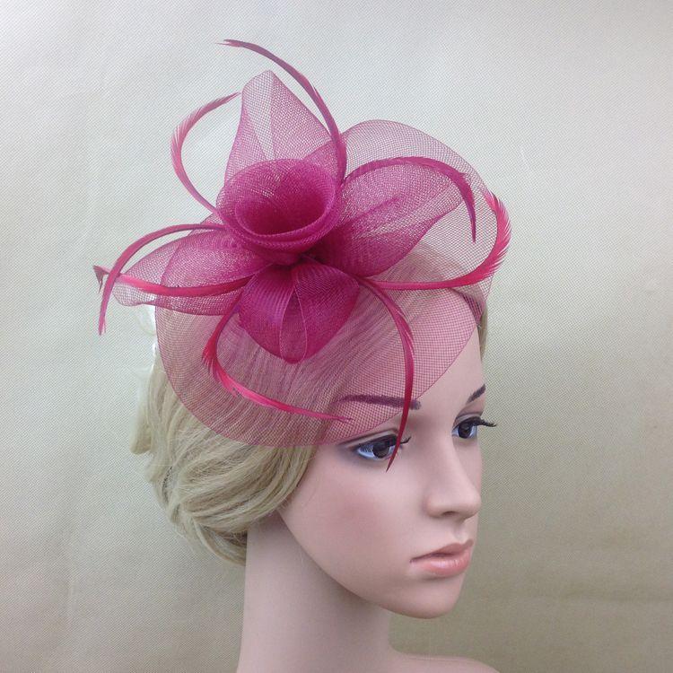 Beautiful Ladies Vintage Flower Hair Fascinators Prom Headpieces Headdress Bride 2017 Wedding Hats Accessories Wholesale
