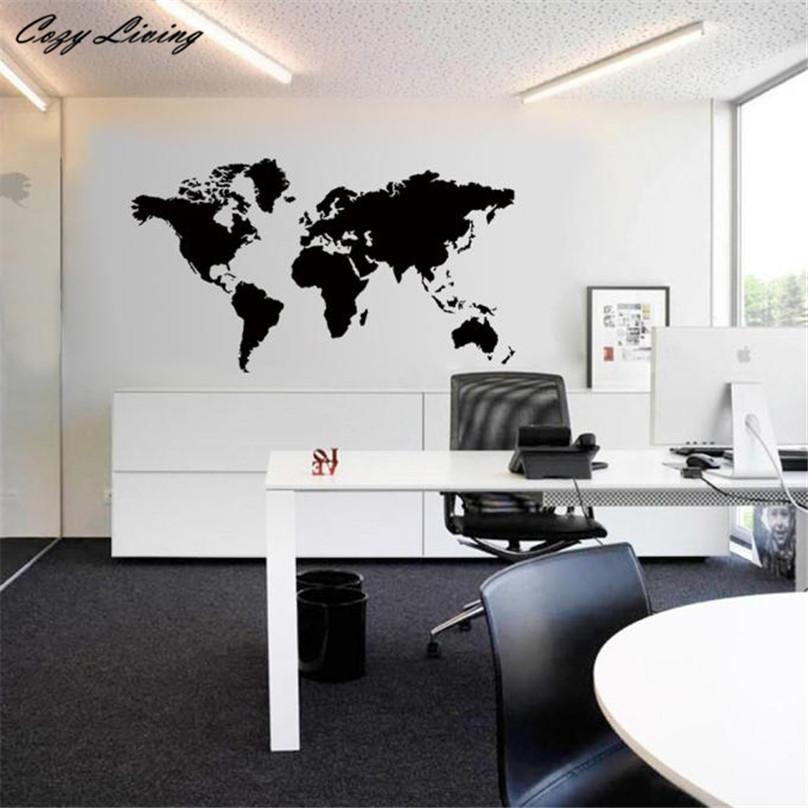 wall stickers world map removable vinyl wall sticker wallpaper home