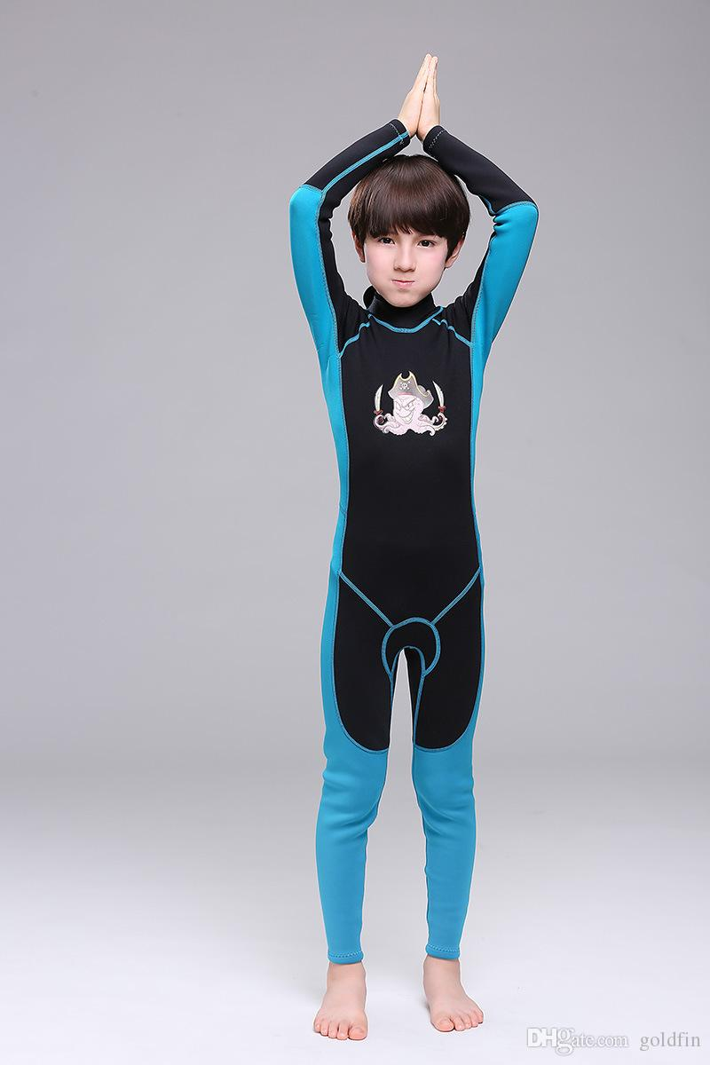 good quality wholesale kids full wetsuit neoprene children swimsuit swim swear long sleeve and leggings sun protection one piece diving suit