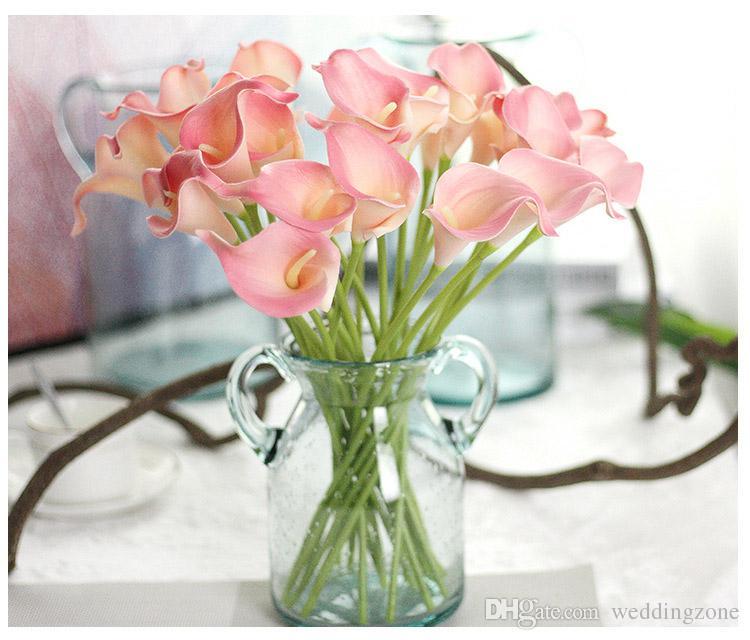 Vintage Artificial Flowers Calla Lily Bouquets 34.5 CM/13.6 inch for Bridal Wedding Bouquet Decoration