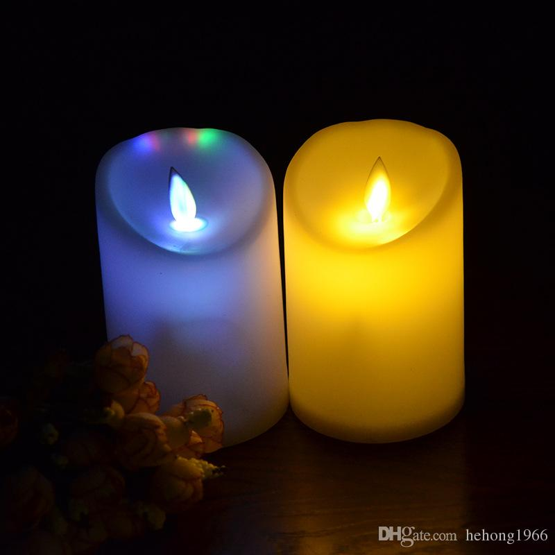 smokeless candle fashion electronic night light simulation slanting