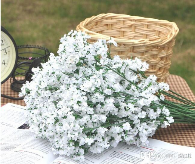 Moda Hot Gypsophila Baby's Breath Artificiale fiori di seta finti Fiori Decorazione della casa