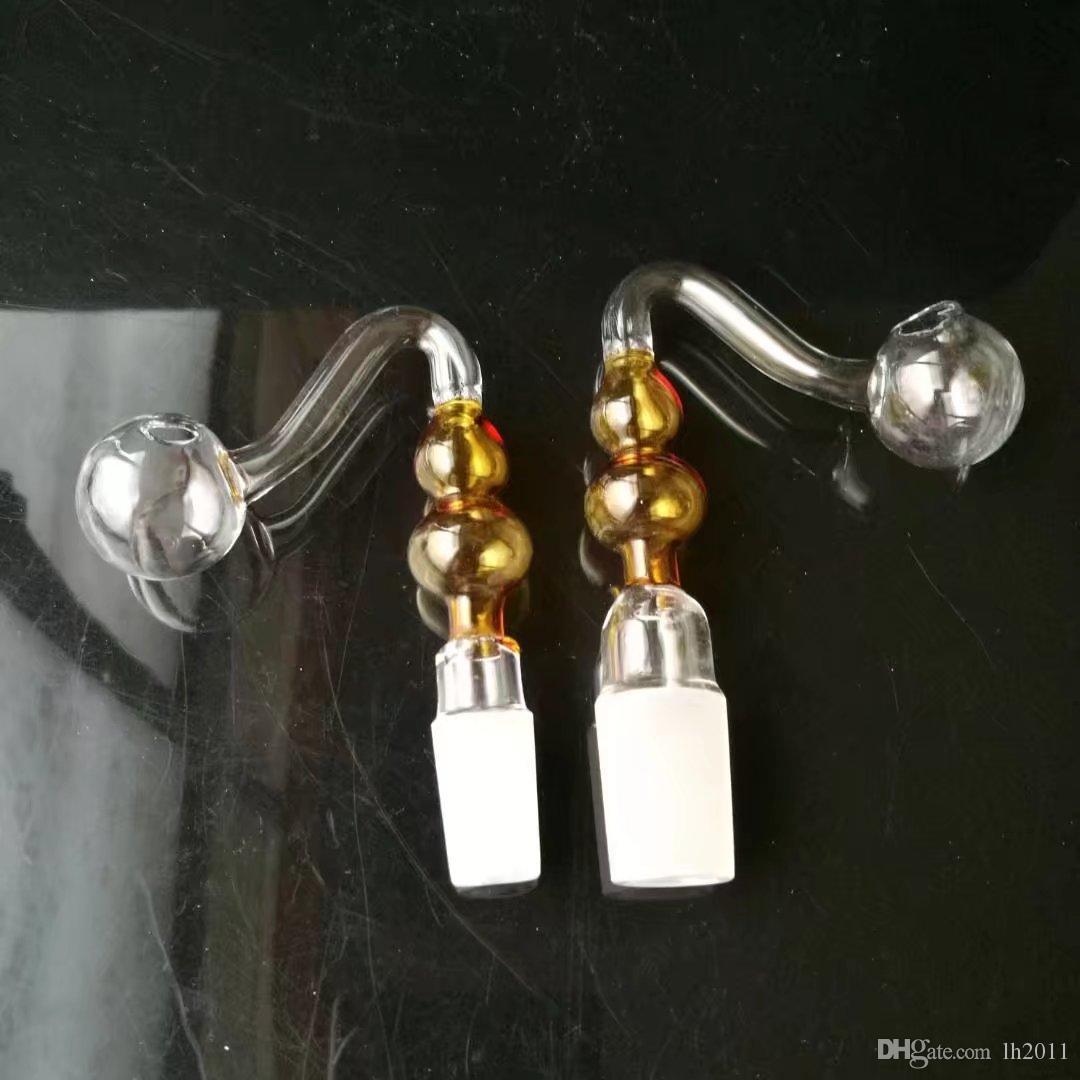 S zucca, bong all'ingrosso di vetro Bruciatore a olio Tubi di vetro Tubi di acqua Condotti olio di vetro Fumo Shoping gratuito