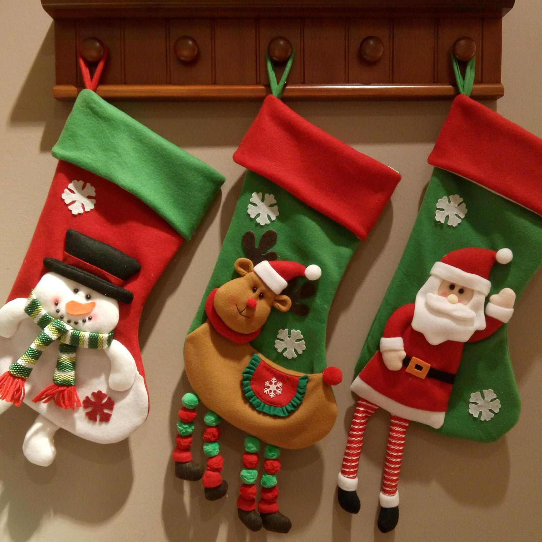christmas gifts bags for christmas stockings socks christmas ornaments decorations bags best xmas decorations big christmas decorations outdoor from - Big Christmas Stockings