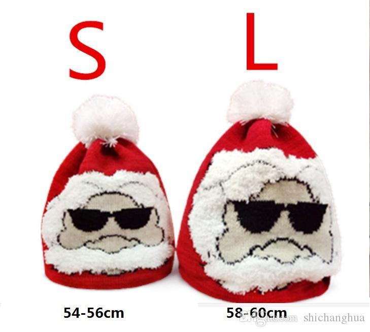 e050f3dc2e81 Christmas Hat Adult Children'S Parent Child Jacquard Knitting Santa Hats  Knit Caps Beanie Knitted Hats For Winter Warm Girl Boy Woman Men Beanie  Hoodies ...