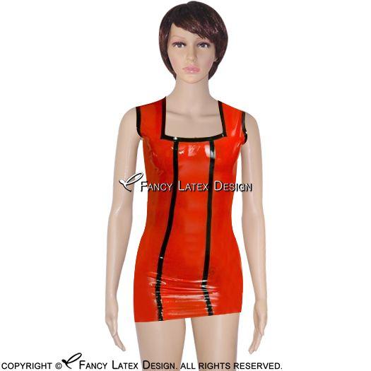 fc3d0d247 Pijamas Sexys Vermelho Com Preto Vestido De Látex Sexy Com Listras De  Borracha Vestido Fetiche Playsuit Bodycon Plus Size Vendas Quentes Lyq 0032  Lingerie ...