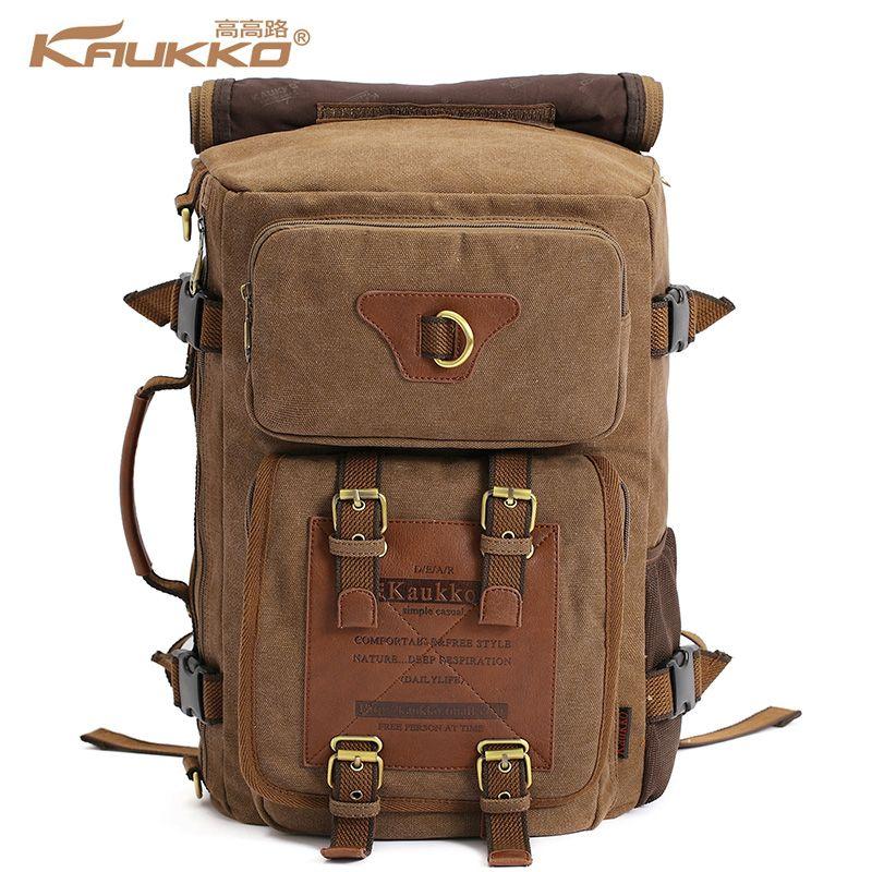 350f1e39d1 Wholesale KAUKKO Vintage Men S Backpacks Rucksack Canvas Shoulder Bags  Luggage Travel Backpack Bag Hunting Backpacks Gregory Backpacks From  Beasy114