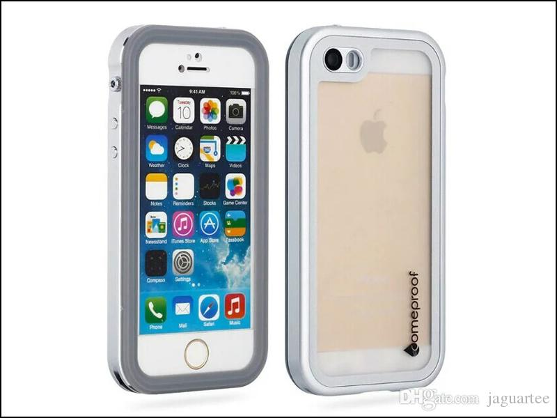 For iphone 5/5S/SE Waterproof Metal Case Hard Aluminum Dirt Shock Proof Mobile Cell Phone Cases Cover with retail pack