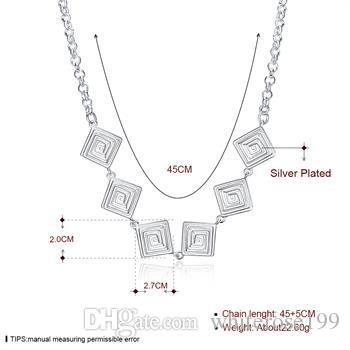 Faden Halskette Schmuck Großhändler 925 Silber Mode Necklacey N908