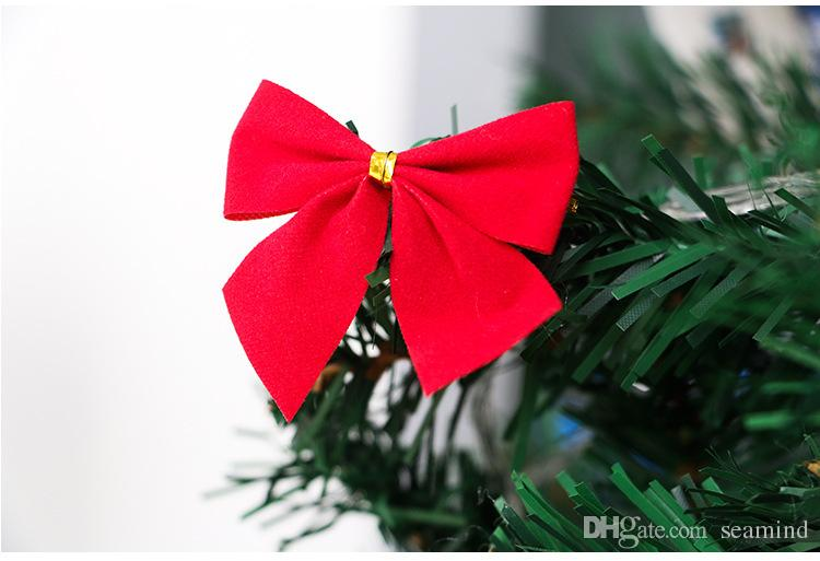 12x Bow Christmas Tree Hanging Ornament Bowknot Party Home Decor New Year Party supplier home Garden Bowknot Ornament wholesale