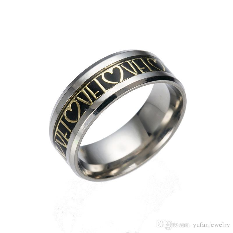 20 style 316L stainless steel ring high quality men's fashion ring Christmas gift ring