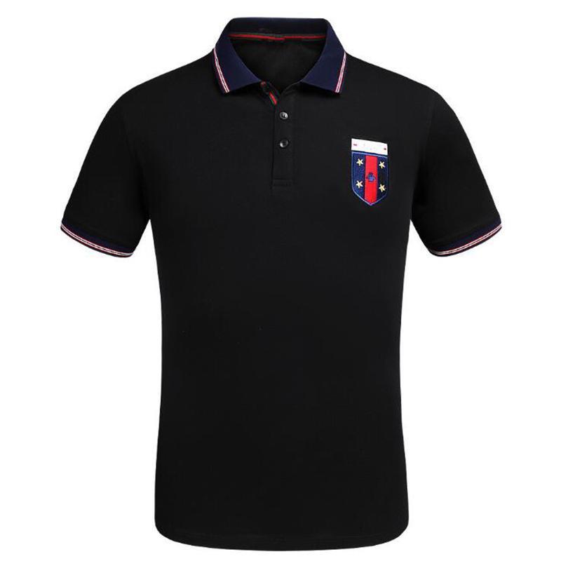 2017 Yaz lüks T-shirt tee rahat baskı moda giyim siyah beyaz patchwork tshirt erkekler için yeni stil erkek polos ücretsiz kargo