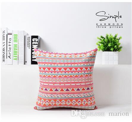 Geometric Aztec Cushion Cover Bohemia Zig zag Chevron Throw Pillow Case Colorful Linen Cotton Decorative Cushion Sofa Home Decor