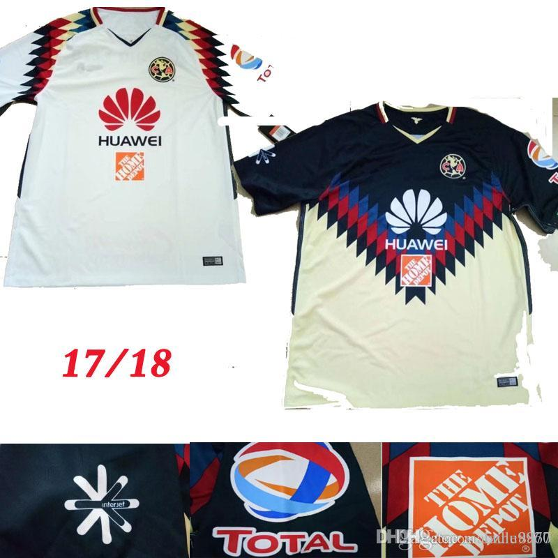 a8f430160 Club America Aguilas 2017 New Camiseta De Futbol Mexican League Soccer  Jersey Thai Quality 17 18 Green Mexico American Club Football Shirts  Wholesale Cheap ...