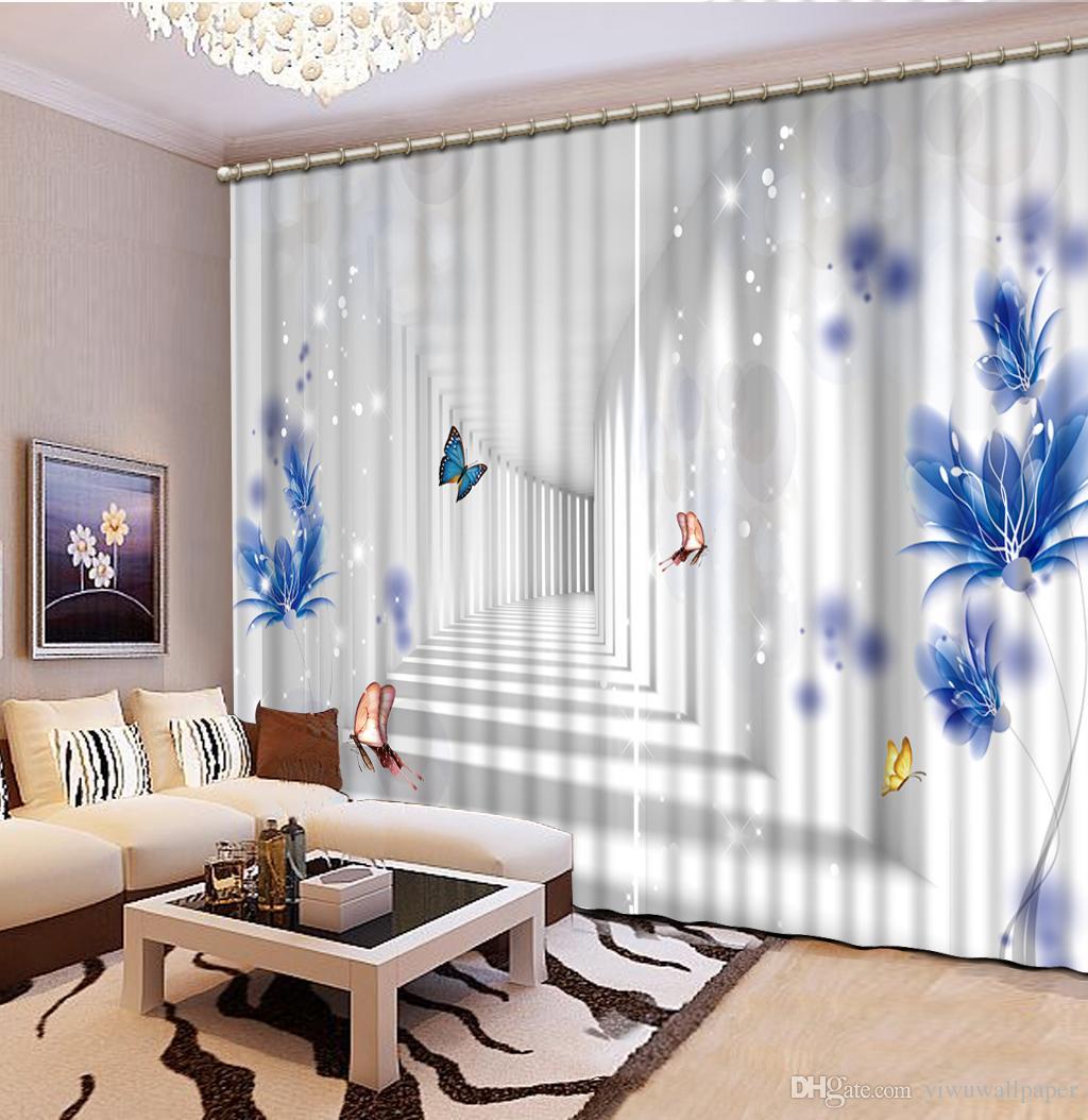 Großhandel Mode Dekor Dekoration Für Schlafzimmer Wohnzimmer Vorhang Hohe  Qualität Anpassen Größe Moderne Vorhänge Für Wohnzimmer 3D Vorhang Von ...