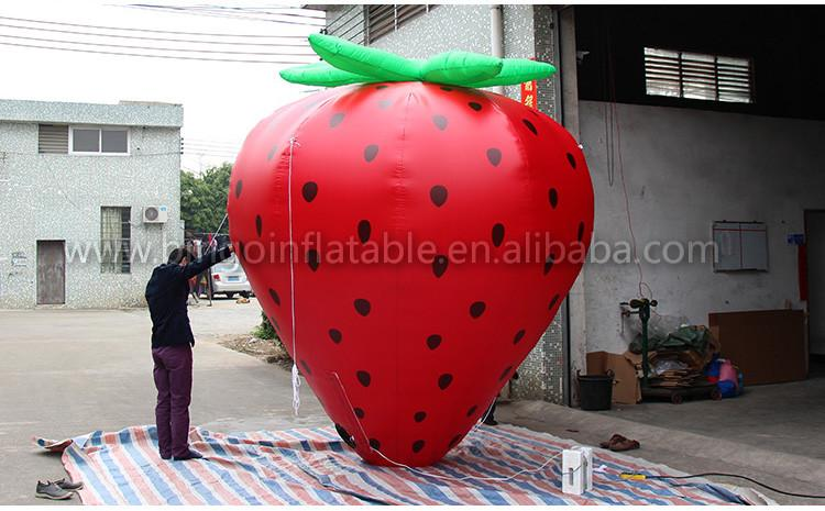 hot sale advertising Inflatable Fruit model Giant inflatable strawberry for promotion