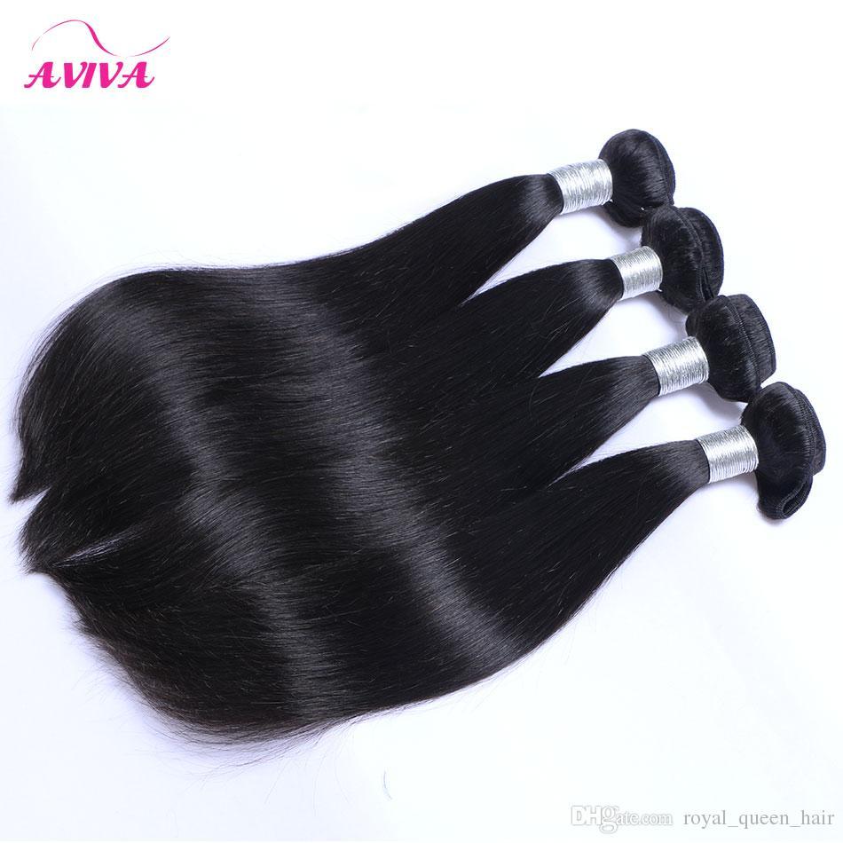360 volle Spitze Frontal Schließung mit 3 Bundles brasilianisches reines Haar spinnt gerade peruanischen indischen malaysischen kambodschanischen billige Remy Menschenhaar