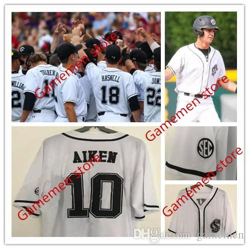 Custom Men s South Carolina Gamecocks College White Baseball Jerseys ... 0e857d8a2