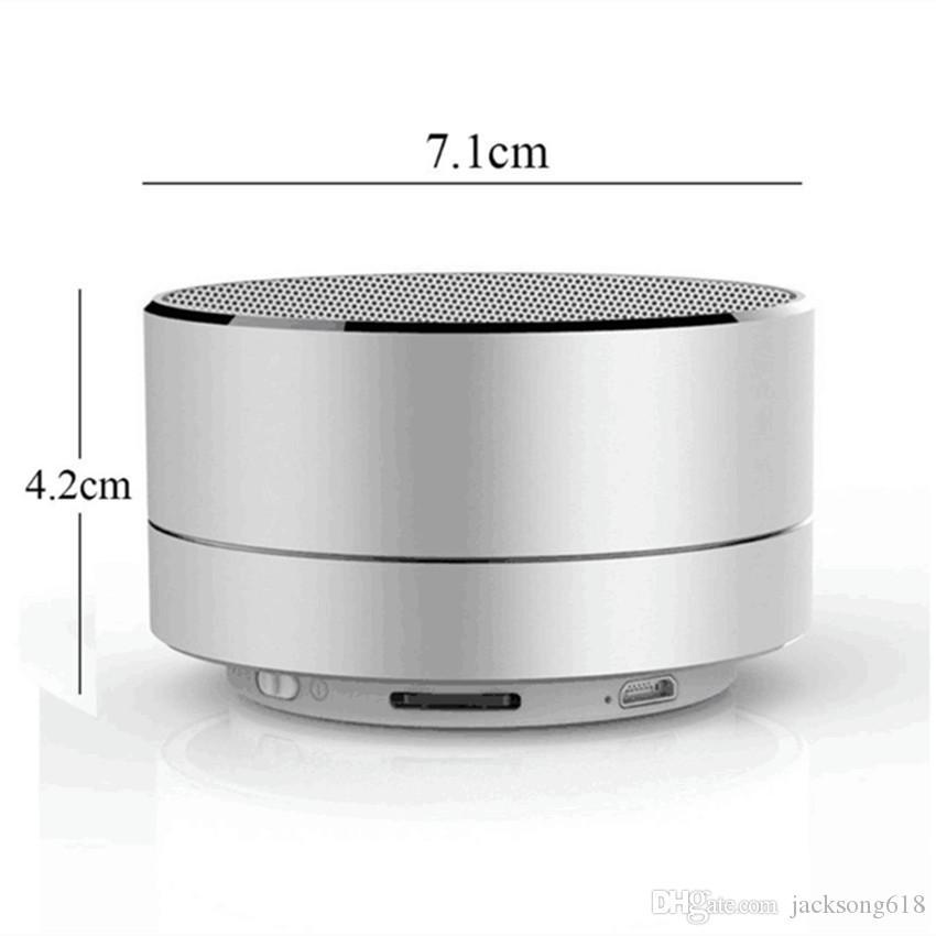 Vente chaude A10 Bluetooth Portable Mini Haut-parleur LED Flashlighting Haut-parleurs Bluetooth Sans Fil Pour IOS Téléphones Android Avec Boîte Au Détail /