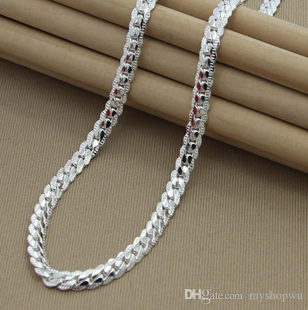 2018 wholesale 925 silver plated women mens chain 20 inch silver 2018 wholesale 925 silver plated women mens chain 20 inch silver link unisex high quality necklace gift from myshopwu 2512 dhgate mozeypictures Images