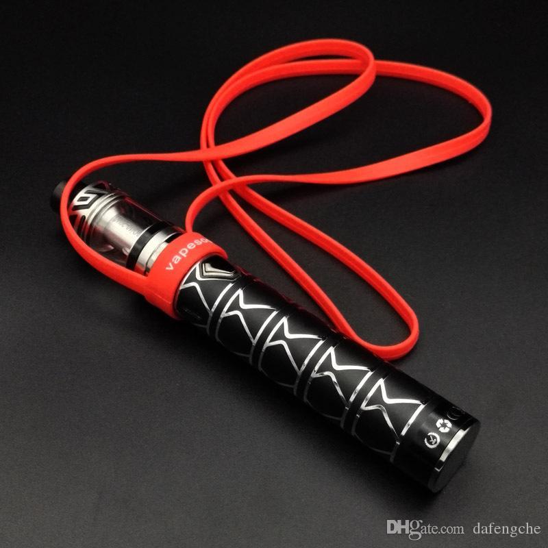 Cordón de silicona con Superman Batman Vape Banda O Anillos Collar de silicona Cadena para EVIC EGO ONE IJUST SUBVOD PANGU Endura Target Mini