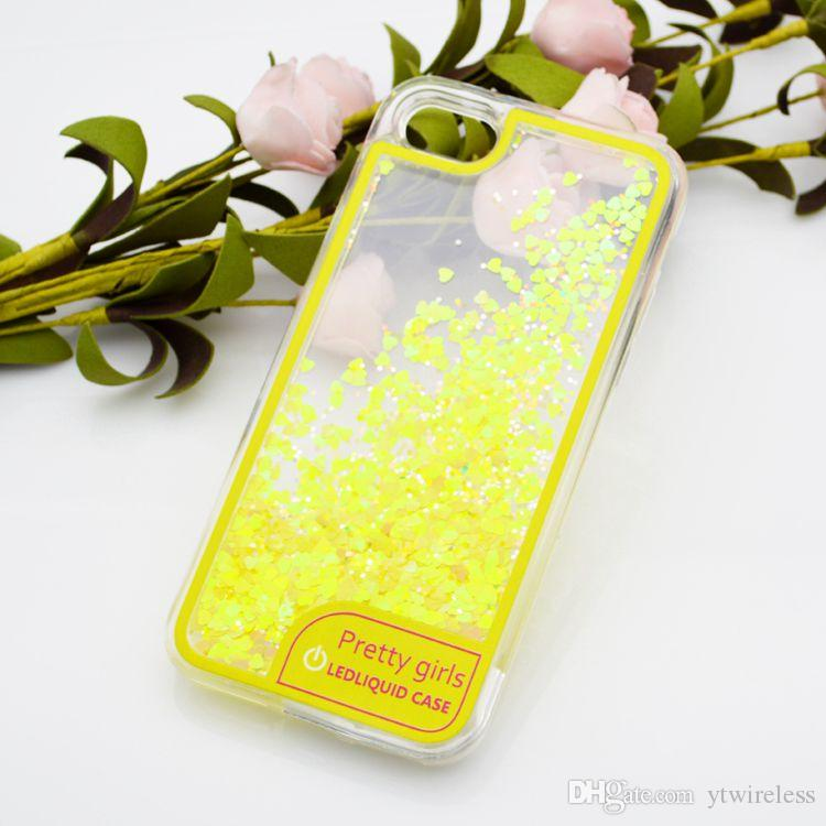 promo code c6617 bcadf For Google Pixel XL Wholesale Price LED Light Hybrid Water Liquid Glitter  Shining Cell Phone Case Soft Back Cover Retail Packaging Opp Bag